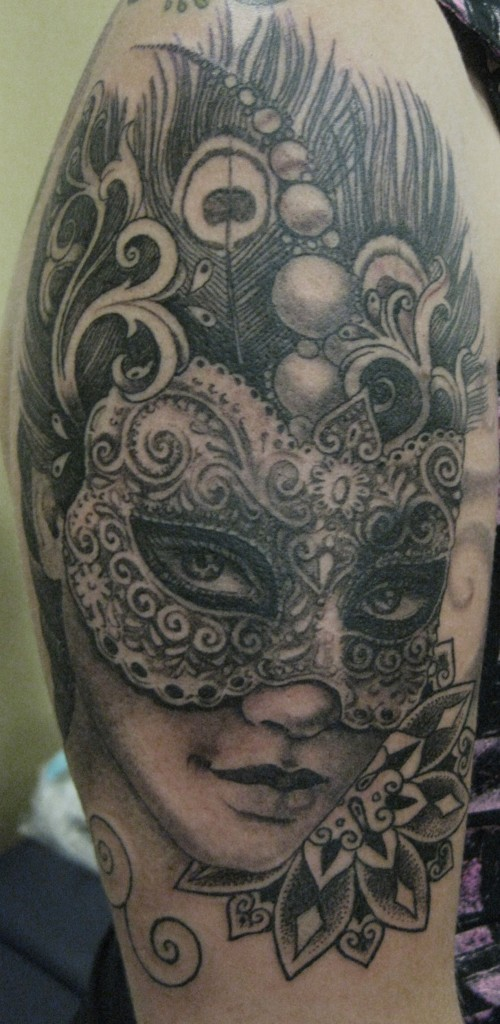 Pattern work - Realism - Dot work - Black & Grey.