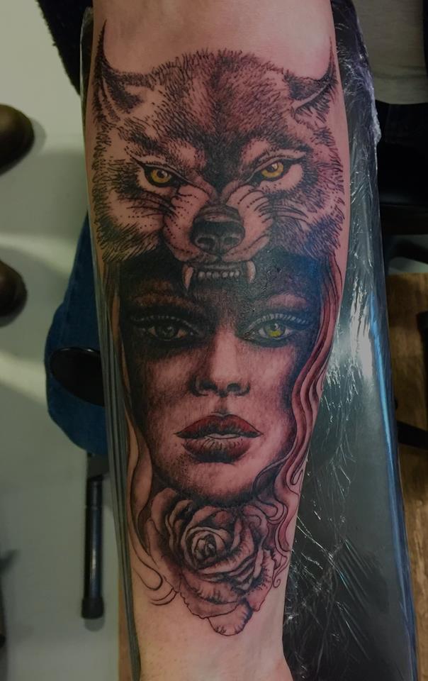 wolf head dress